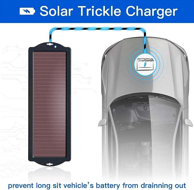 2 5w 12v Solar Panel Ladegerät Kit Für Autobatterie Wasserdicht Tragbare Solarpanel Auto Batteriewartung Ladegerät Mit Batterieladeanschluss Zubehör Geeignet Für Autos Motorräder Und Schiffe Auto