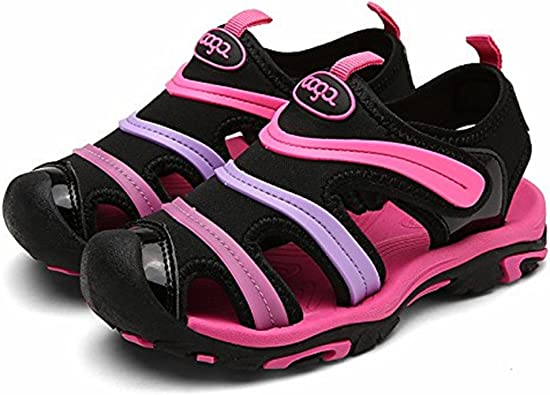 Summer Kids Boys Toddler Sport Water Sandals Closed-Toe Outdoor Casual Shoes CA