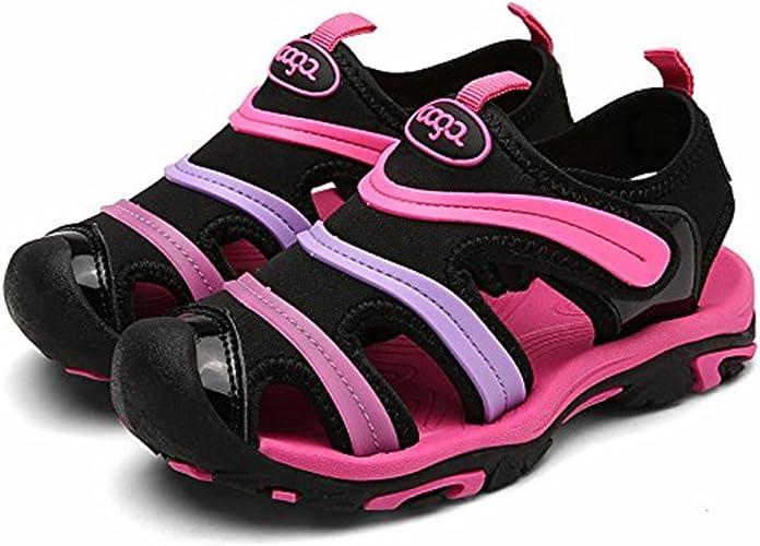 Kencey Summer Breathable Closed-Toe Strap Sandals for Boys Girls Toddler//Little Kid//Big Kid