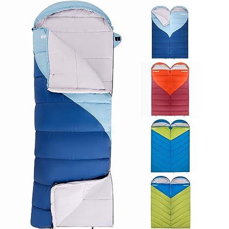 Fundango Saco de Dormir de compresión, Ligero, Impermeable, tamaño Grande para Adultos,