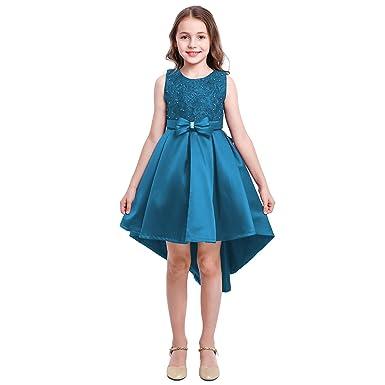 Vestiti Eleganti Bambina 12 Anni.Fymnsi Vestito Da Ragazza Fiore Ricamo Corto Davanti Lungo Dietro