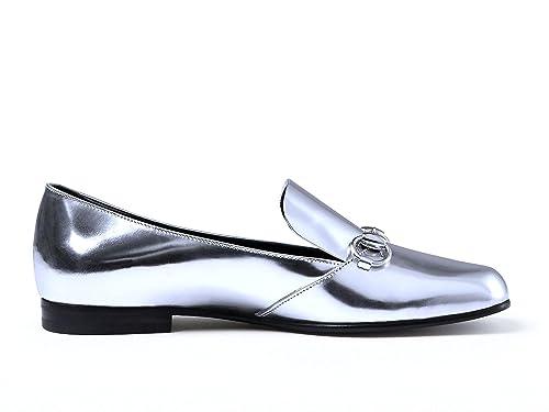 GUCCI MUJER 370229BRK008106 PLATA CUERO MOCASÍN: Amazon.es: Zapatos y complementos