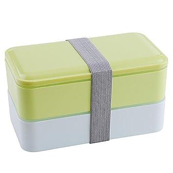 Almuerzo Cajas, cajas de almuerzo con cubiertos de accesorios de viaje almuerzo cajas apilables Cajas