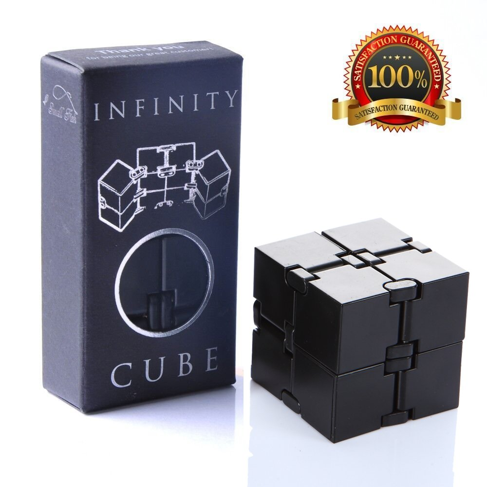 Infinity Cube Fidget Toy, Sensory Tool EDC Fidgeting Game for Kids and Adults, Cool Mini Gadget Best for Stress and Anxiety Relief and Kill Time, Unique Idea That is Light on The Fingers and Hands product image