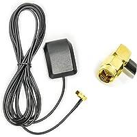 Vecys Antena GPS 1575.42 MHz Adaptador ángulo SMA con 3 m GPS para Automóvil Cable Extensión Antena SMA Base Magnética…