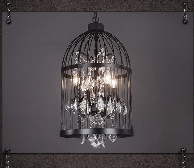 Lámparas de cristal, Jaula de pájaros de hierro forjado retro ...