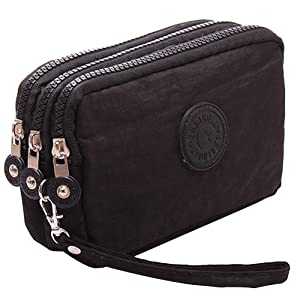 SZTARA Multifunction Three Layer Zipper Closure Insert Handbag Sport Portable Organiser Purse Cash Key Phone Bag