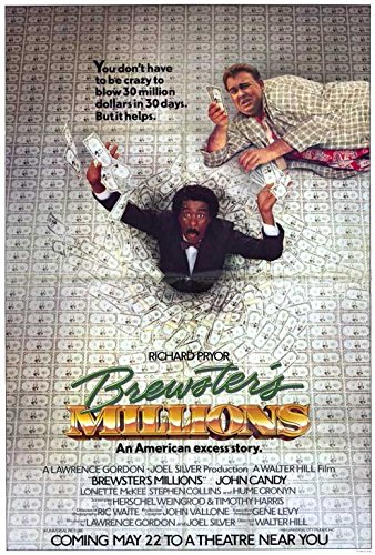 27 x 40 Brewster's Millions Movie Poster