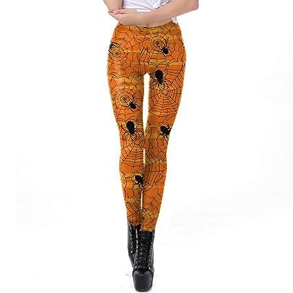 Pantalones De Yoga,Impresión De Tela De Araña De Halloween ...