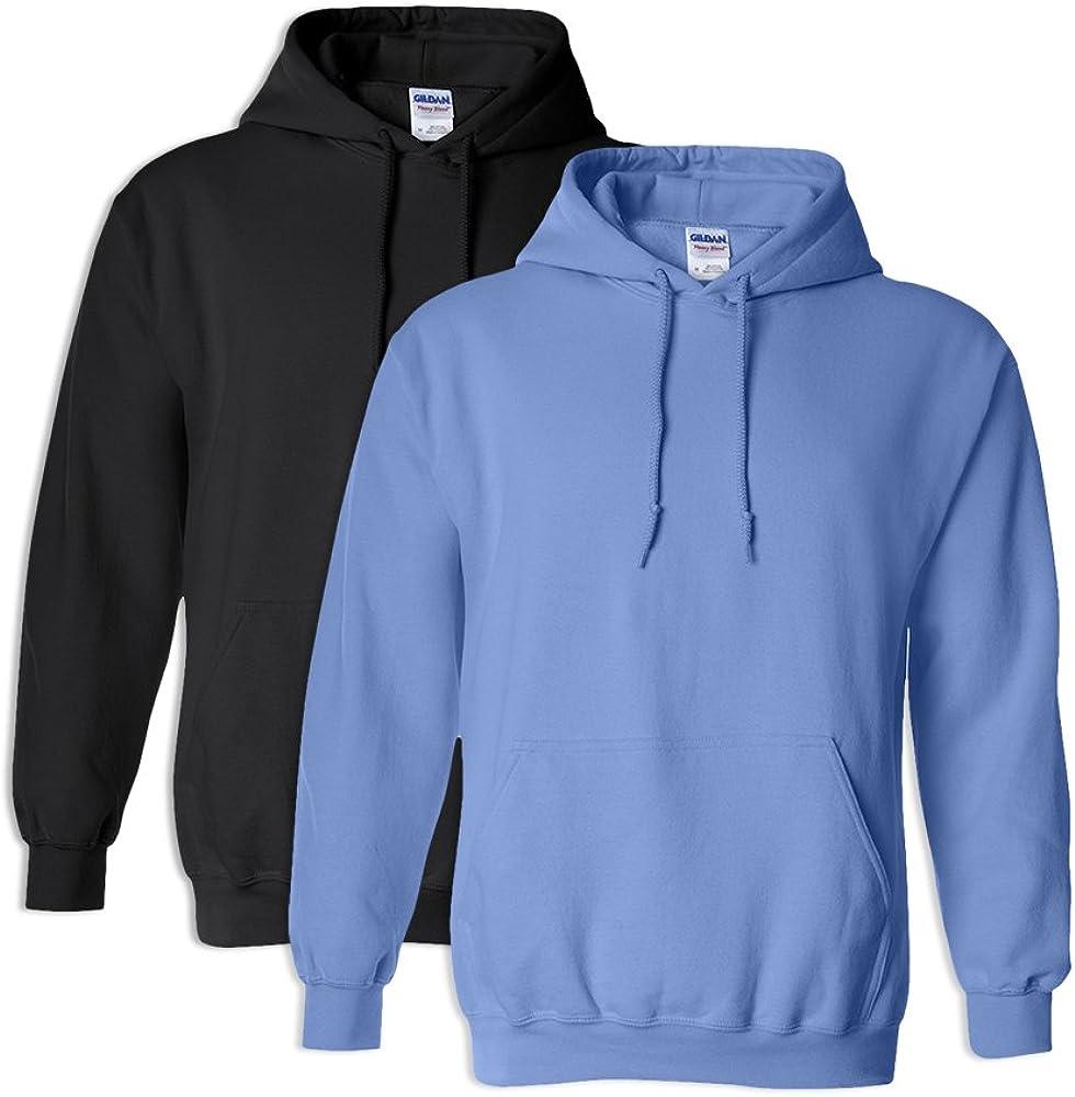 1 Carolina Blue Gildan G18500 Heavy Blend Adult Hooded Sweatshirt 3XL 1 Black