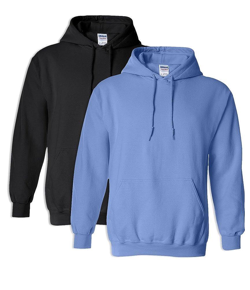 1 Carolina Blue Gildan G18500 Heavy Blend Adult Hooded Sweatshirt M 1 Black