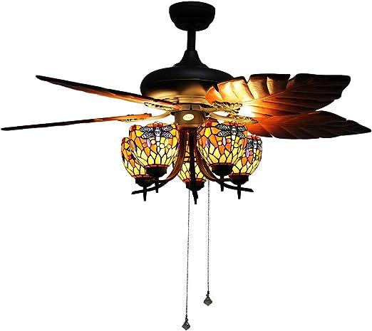Vintage Makenier estilo Tiffany 5-luz de libélula Uplight ...