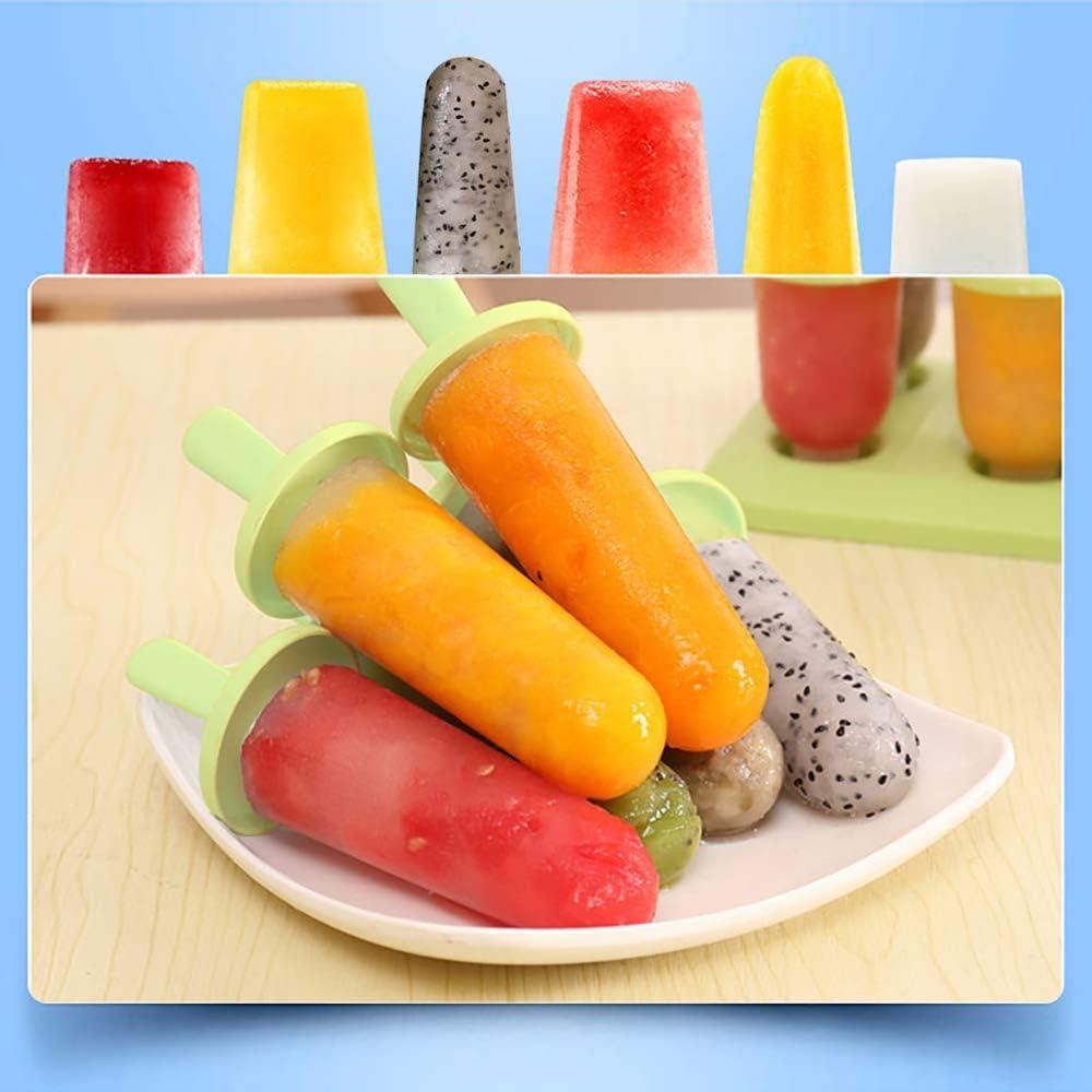 BPA Freie Popsicle Formen f/ür Kinder und Erwachsene Eisformen 6er Pack EIS am Stiel Formen in Lebensmittelqualit/ät