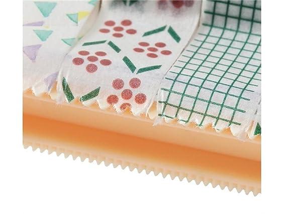 Yter Material de Oficina 1 PC Papelería Cinta Adhesiva Cortador Washi Tape Organizador de Almacenamiento Titular de Cortador Dispensador de Cinta de Oficina ...