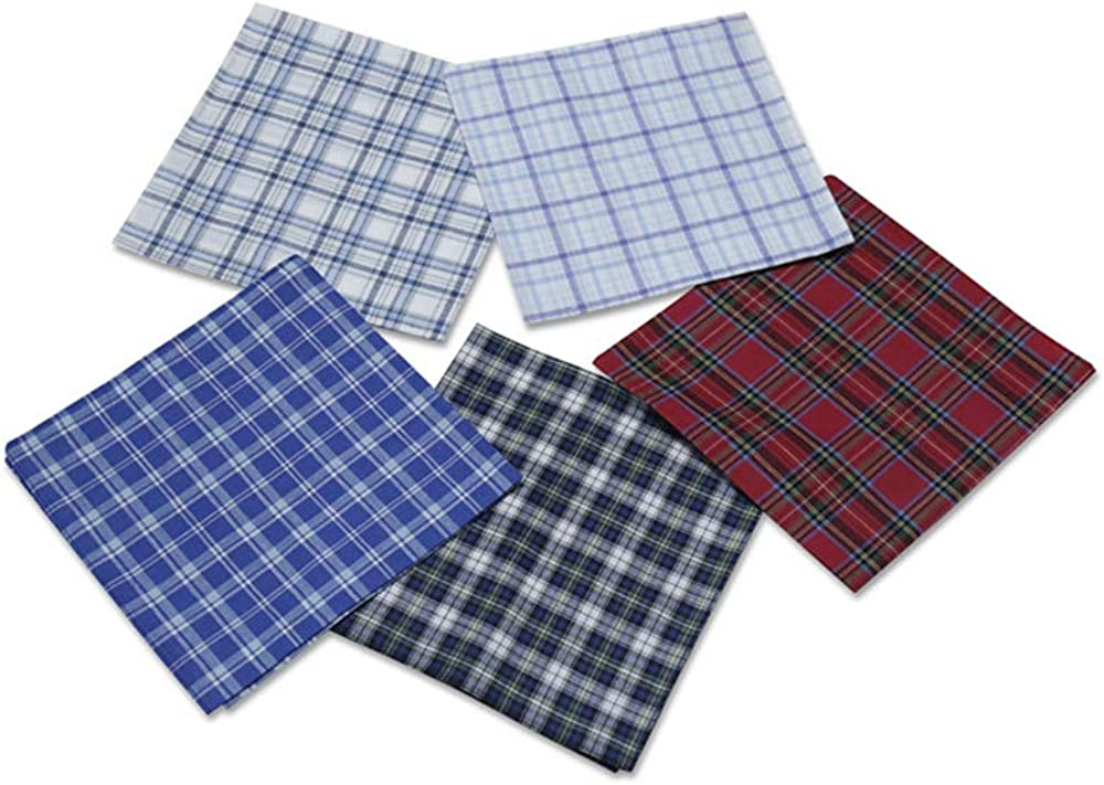 Mens Handkerchiefs,100/% Soft Cotton Pocket Handkerchiefs for Men Cotton
