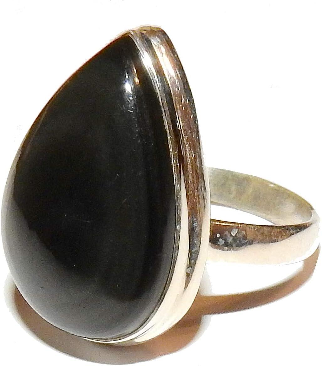 SunnyCrystals Obsidian Ring Rainbow High Vibration Spiritual Energy Size 10 OBR011