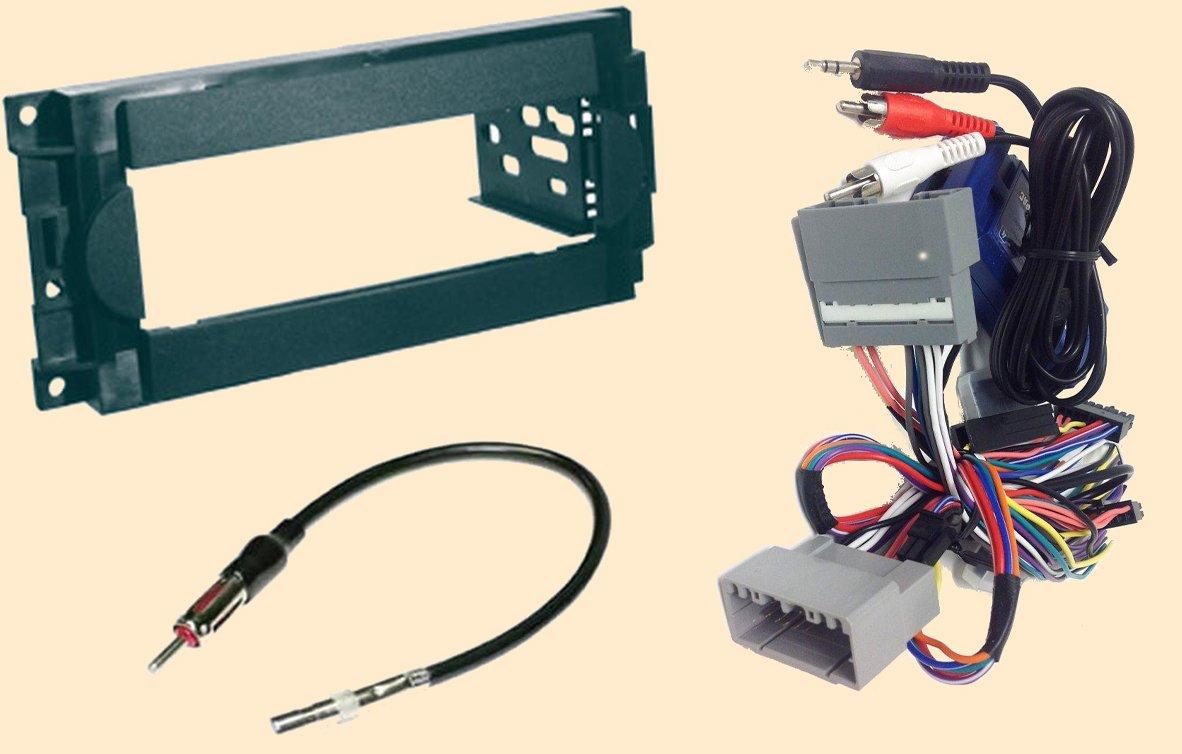 Radio Stereo Install Dash Kit + Steering Control Wiring + Canbus Wire Harness + Antenna Adapter - Non Nav Chrysler 300 (05-07), Pt Cruiser (07-10), Aspen 2007 - Dodge Caliber (07-08), Charger (06-07), Dakota (06-07), Durango (04-07), Magnum (05-07), Ram (