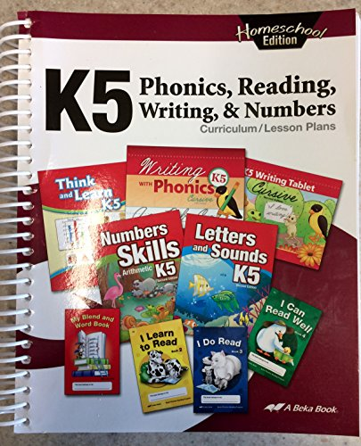 K5 Phonics, Reading, Writing & Numbers Curriculum Lesson Plans (Homeschool - Plan School