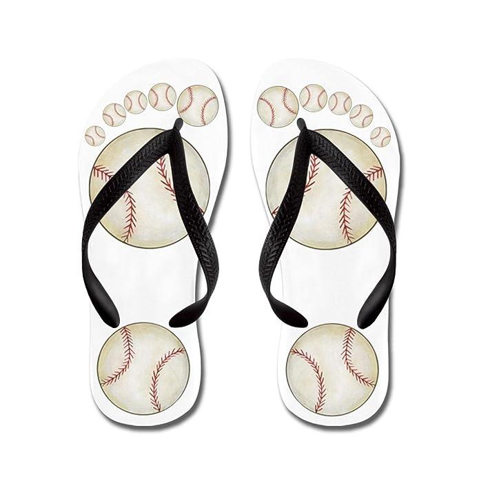 d5515b575a5d1b Amazon.com  CafePress - Baseball - Flip Flops