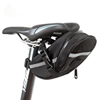 SEAT PACK-BicycleStore Mountain Road MTB Bicycle Bike Cycling PU Saddle Bag,Bicycle Repair Tools Pocket Pack, Bicycle bag, black- [DAGO-Mart Quality Guarantee]