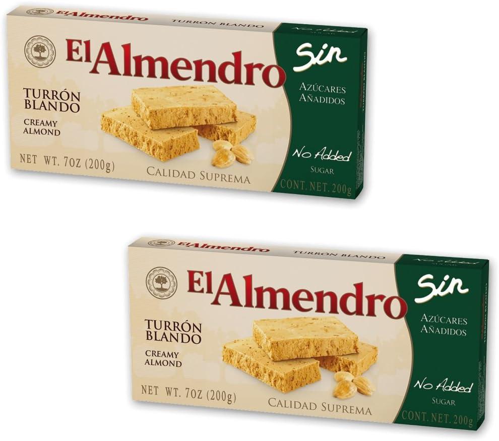 El Almendro - Pack incluye 2 Turron blandos sin azúcar añadido 200gr Calidad Suprema: Amazon.es: Alimentación y bebidas