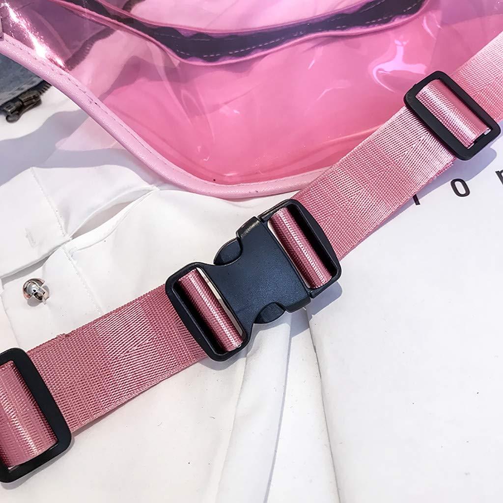 Luckycat Ri/ñonera Deportiva para Mujer Hombre Bolso de Cintura Cangurera Running Ri/ñoneras para Senderismo Ciclismo Bolsa de PVC transparente para tel/éfono bolsa de cintura ri/ñonera bolsa de viaje