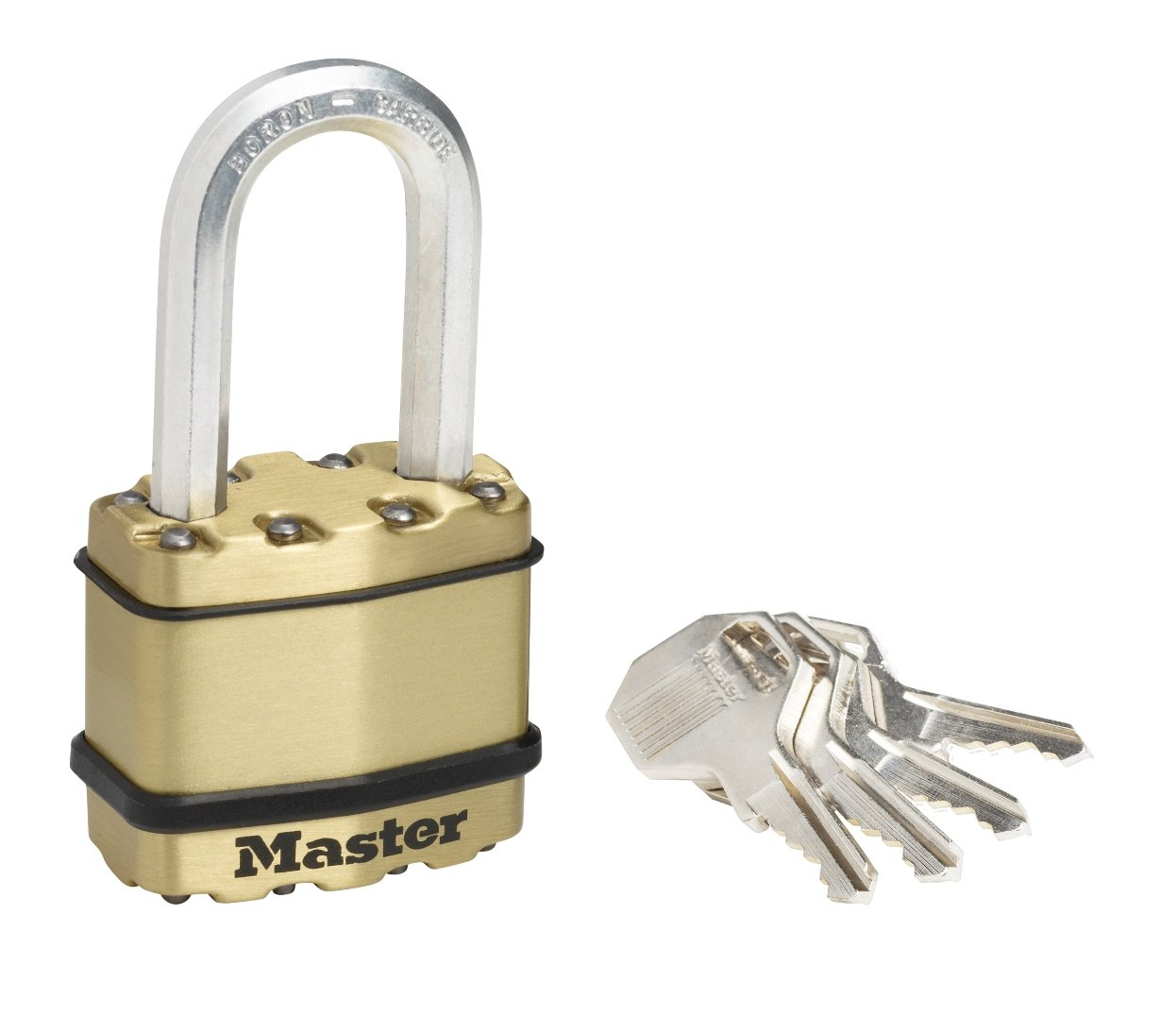 *Master Lock Zinc outdoor padlocks, brass finish, 50­ mm anti-rust outer protection - keyed lock 50­mm anti-rust outer protection - keyed lock M5BEURD