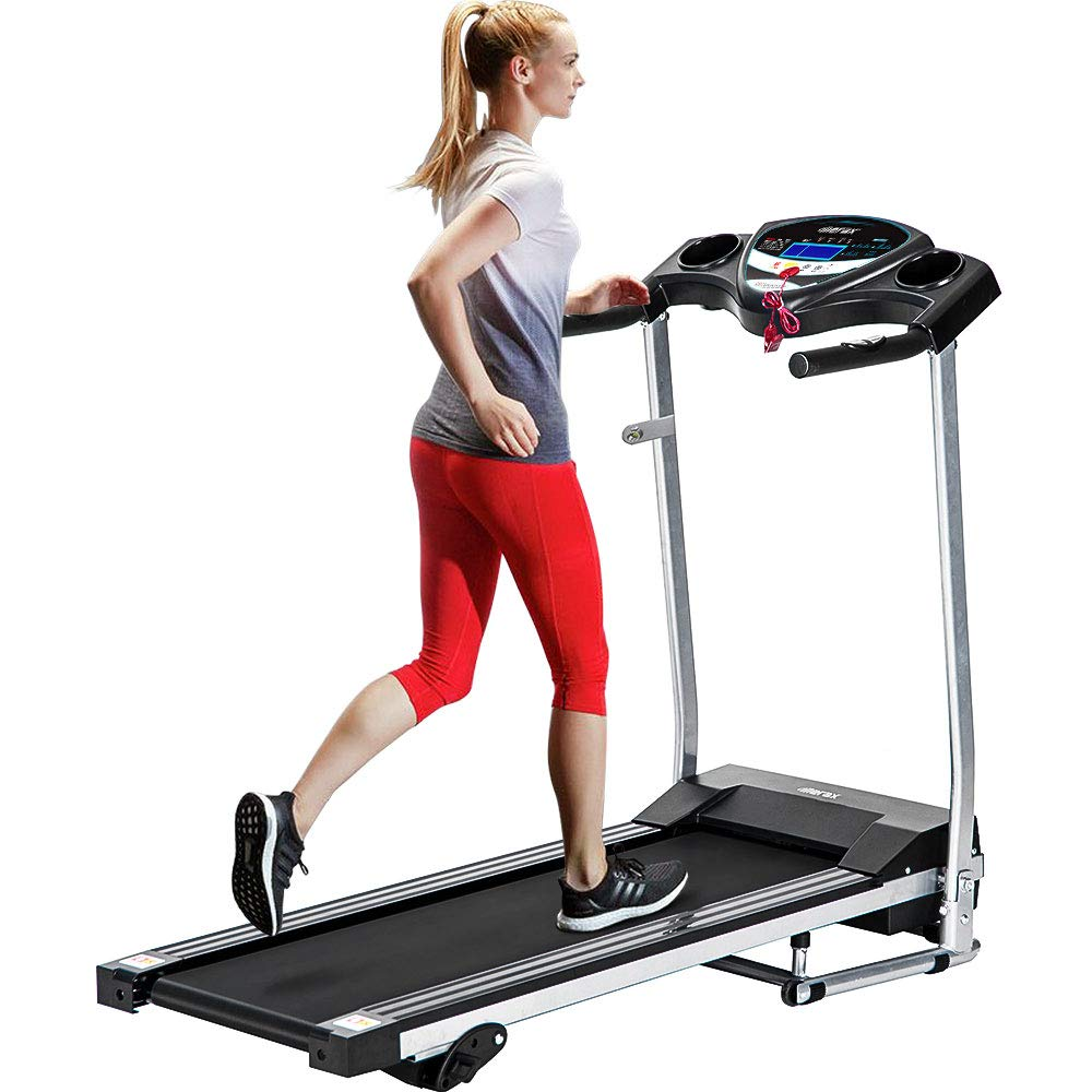Merax Fitness Folding Treadmill - Electric Motorized Exercise Machine for Running & Walking [Easy Assembly] (Classic Black) by Merax (Image #1)