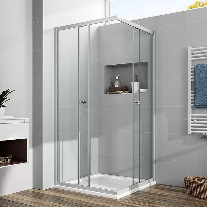 EMKE cabina de ducha para esquina, mampara de ducha, puerta ...