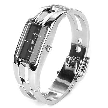 76c09d2790 Silver Quartz Women Bangle Bracelet Wrist Watch / A Stunning Open Bangle  Style Wrist Watch For