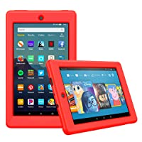 MoKo Case Fits All-New Amazon Fire 7 Tablet (9th Generation, 2019 Release), Ultra-Flexible...