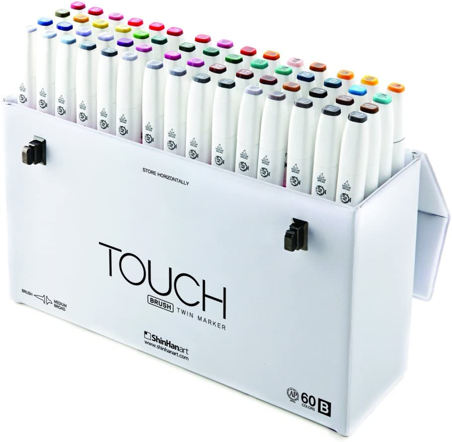 ShinHan TOUCH TWIN Brush Marker 60 Color Set B