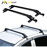 AUXMART Universal Roof Rack Cross Bars with Anti-theft Lock Fit Most 4-Door Car Sedans/SUVs/Pickups - 60KG / 132LBS Capacity