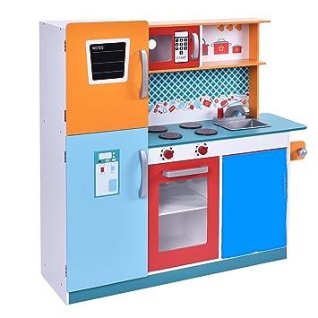 Infantastic Multicolor Juego de cocina infantil de cocina de madera ...