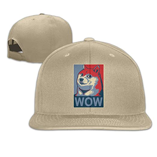 Amazon.com  Wow Doge Elections Adjustable Hat Natural  Clothing 78254481c705