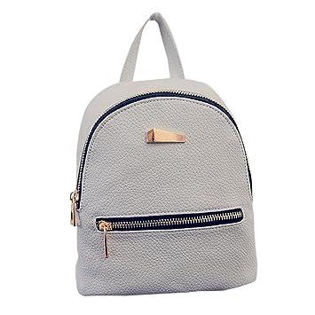 Nueva mochila para mujer Bolso de viaje Mochila Escolar Bolsa de hombro LMMVP (19cm*17cm*12cm, Gris): Amazon.es: Hogar