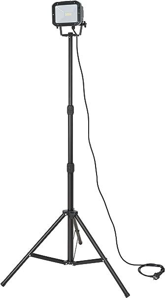 Farbe schwarz Au/ßenstrahler IP44, LED Fluter mit 2x 24 super hellen SMD-LEDs Brennenstuhl Stativ SMD-LED-Leuchte LED Strahler f/ür au/ßen und innen mit Stativ
