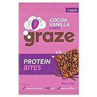 Graze Protein Bites Cocoa Vanilla Oat Squares, 30 g