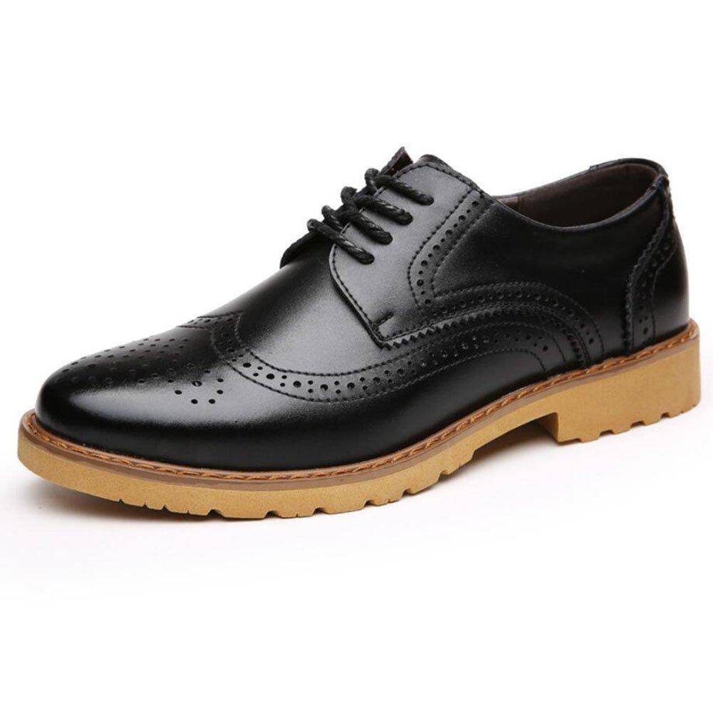 CAI Herren Lederschuhe Frühling/Herbst/Winter Komfort Büro Business Formelle Schuhe Mens Oxfords Tägliche beiläufige Lederschuhe (Farbe : Schwarz  Größe : 38) Schwarz