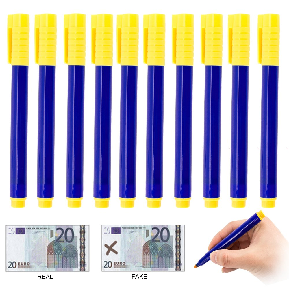 Amazon.com : Fannybuy 10 PACK Money Marker Pen Counterfeit Bill Detector Pens Counterfeit Money Detector Pen : Office Products