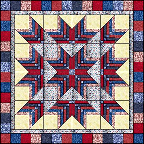 Easy Quilt Kit Patriotic Exploding Star/4 th of July 3D by Material Maven
