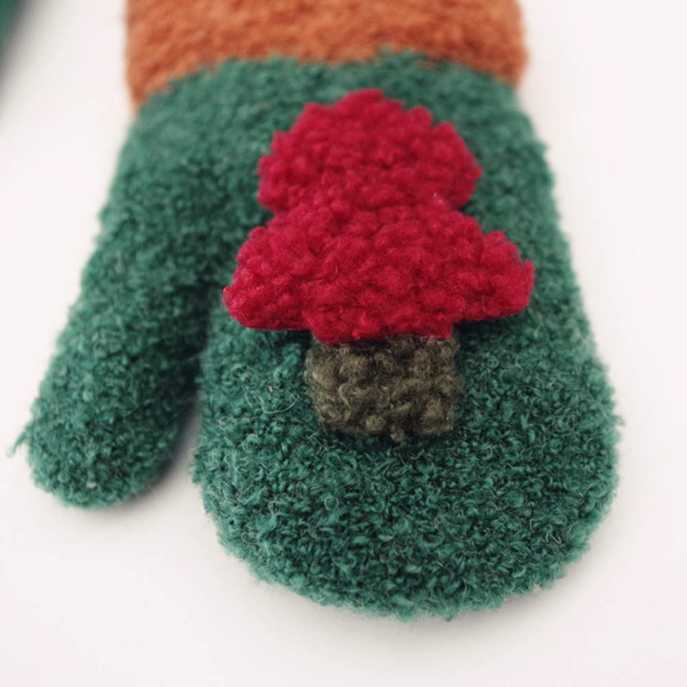 MALLOOM Cute Christmas Tree Decor Baby Boy Girl Warm Winter Gloves Mittens
