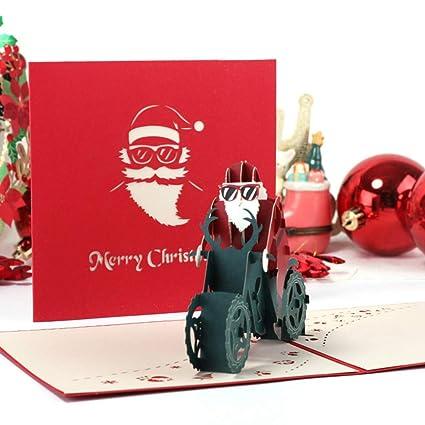 Celan Tarjeta De Felicitación 3d Diseño De Papá Noel Hecho A Mano Para Navidad Boda Invitación Manualidades