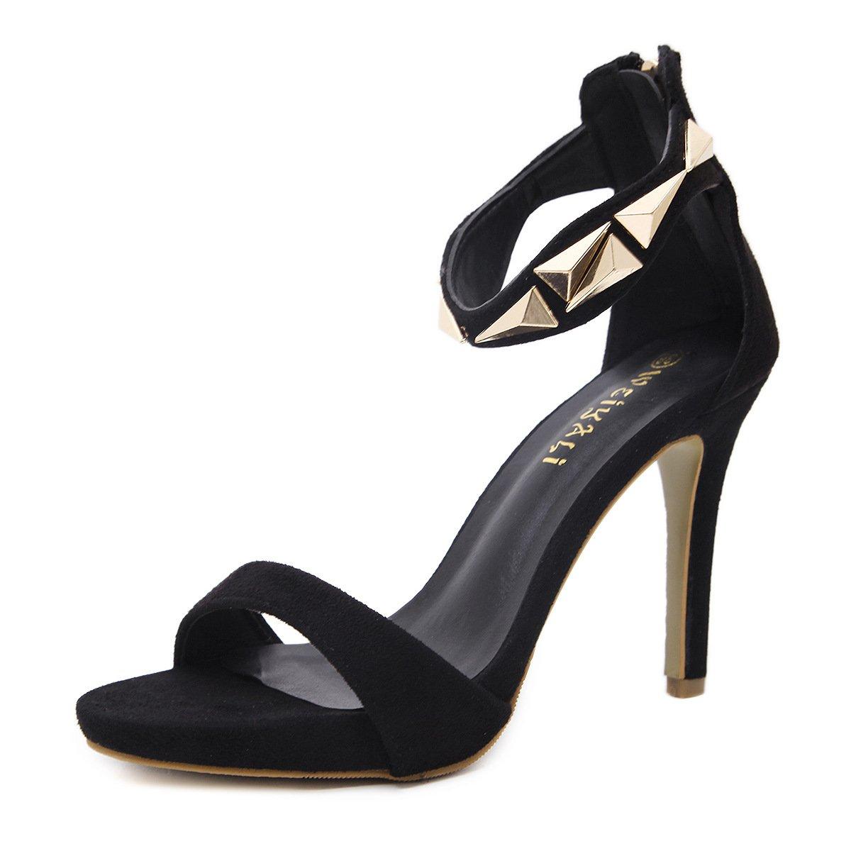 RUGAI-UE Damen mit High Heels Sandaletten sommerliche europäische und und und amerikanische Mode High Heel Sandaletten und Bequeme Sandalen. d9d39f