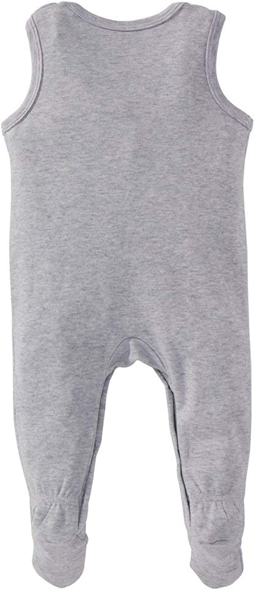 Baby-Overall aus Reiner Baumwolle mit K/ängurutasche und Druckkn/öpfen f/ür EIN einfaches An einfarbig Bornino Strampler /& Ausziehen