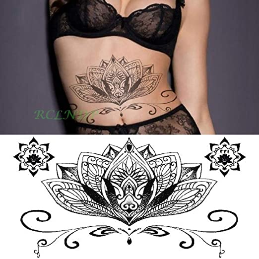 4 Piezas Etiqueta engomada del Tatuaje a Prueba de Agua Bluestar ...