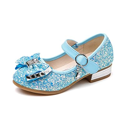 023a703fb6b56 Amazon.com   F-OXMY Toddler Little Girls Glitter Bowknot Mary Jane ...