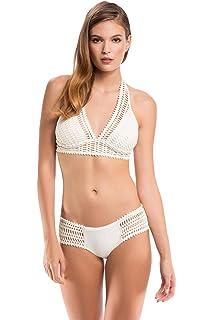 93491deb8c2 Amazon.com: Robin Piccone Women's Sophia Crochet Bikini Bottom ...