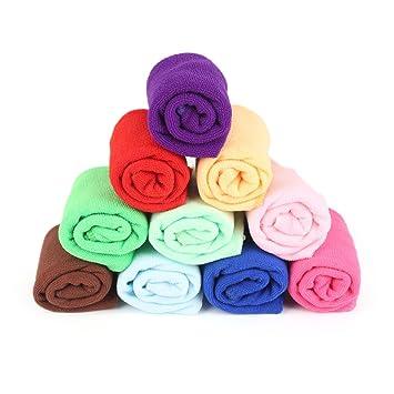 10 toallas de microfibra para limpiar el polvo, fregar, pulir, absorber múltiples superficies, toalla de microfibra: Amazon.es: Hogar