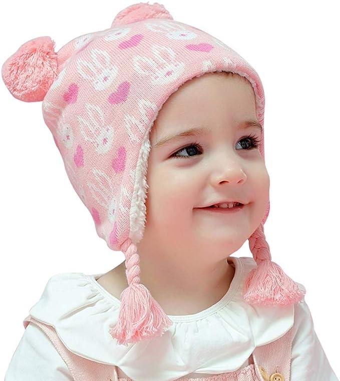 Arcweg Invierno Sombreros para Niñas Algodón Gorras de Punto Polar ...